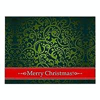 ランチョンマット 綿 麻 4枚セット 北欧 クリスマスシリーズ プレースマット グリーンプリント 緑の模様 ランチマット 華やか卓上飾り 高温耐性滑り止め防しわ 西洋料理マット コーヒーマット家庭 レストラン 用 贈り,32X42cm