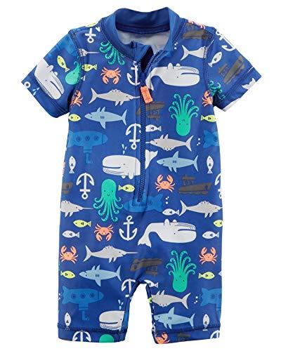 Carter's Baby Boys' Rashguard, Blue sea, 6M