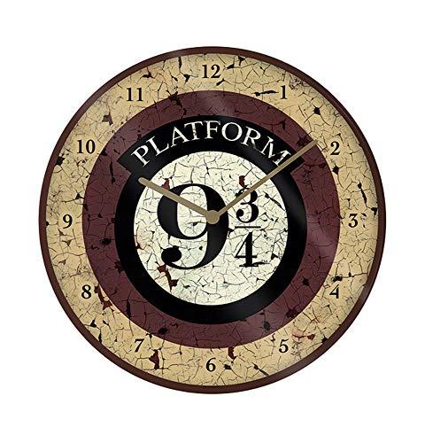 Wanduhr - Harry Potter - Platform 9 3/4 - Größe Ø 25 cm - Kinderuhr