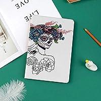 IPad Pro 11 ケース 2018新モデル対応 二つ折スタンド保護ケース iPad Pro 11インチ 専用カバー オートスリープ機能付き 手帳型 タブレットカバーすべての魂の日のメキシコの休日のお祝い女性の頭Muertosバラ模様