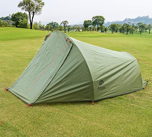 Fltom 2 Person Camping Tent, Ultralight Backpacking Tent for 4-Season, Easy Setup Double Layer Outdoor Tent for Hiking Mountaineering Backpack Travel