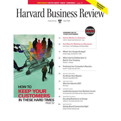 Harvard Business Review, April 2009 copertina