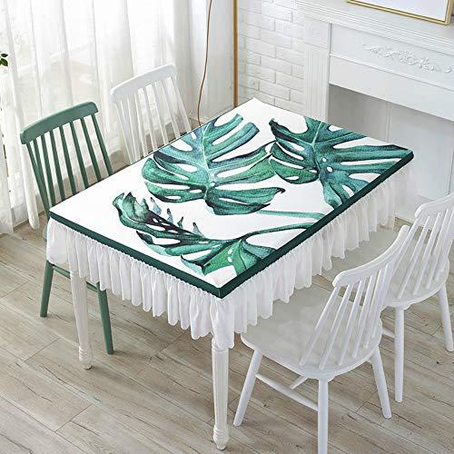 YOUYUANF Tischdecken, Tischdecken, Tischdecken, Verschiedene Größen und Designs, Antifouling, wasserdichter Lotus-Effekt, Pflegeleichte 130x70x25 cm