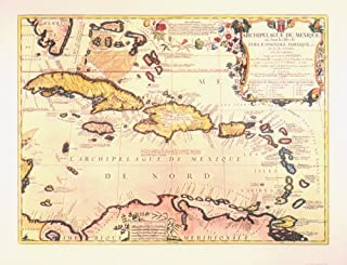 Historical West Indies Map, 1688, Antique Map Wall Art (from Pirates of the Caribbean II)