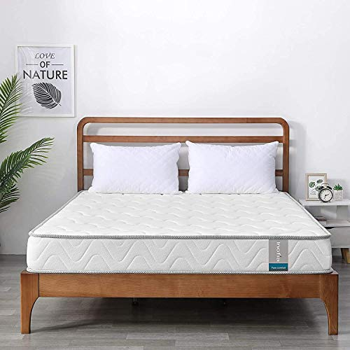 Inofia Double Mattress, Memory Foam Mattress Double Bed Size 4ft 6 - Pressure Relief Comfy & Supportive - 135 x 190 x 15 cm
