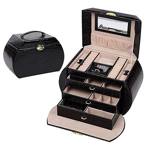 Preisvergleich Produktbild SongMyao Präsentationsbox für Schmuckkästchen,  extra großes Armband,  Halskette,  Aufbewahrungsbox,  Geschenk zum Geburtstag,  jedes Geschenk ist die Beste Wahl. Free Size schwarz