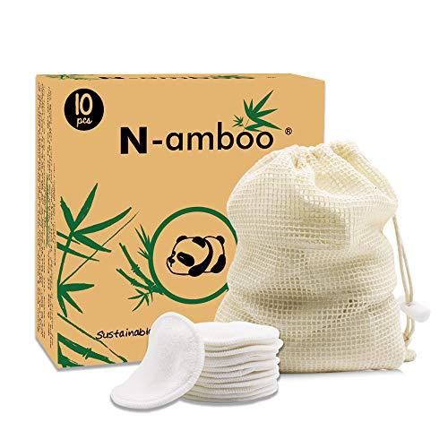 Coton Demaquillant Lavable ,10 Packs Tampon en coton,+Sac à linge,Tampons Démaquillants en bio Bambou