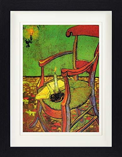 1art1 Vincent Van Gogh - Der Stuhl Gauguins In Arles Mit Büchern Und Kerze, 1888 Gerahmtes Bild Mit Edlem Passepartout | Wand-Bilder | Kunstdruck Poster Im Bilderrahmen 40 x 30 cm