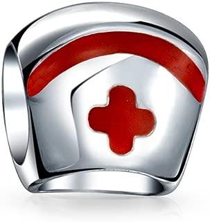Tapa De La Enfermera Cruz RN Médica Hospital Doctor Albalorio para Mujer para Adolescente 925 Encaja Pulsera Europea