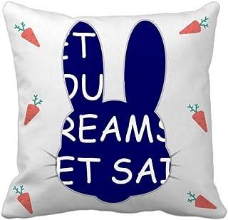 OFFbb-USA Let Your Dream Set Sail Rabbit - Funda cuadrada para almohada