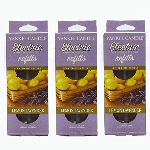 Yankee Candle - 3x Lemon Lavender Electric Plug-In Refill Twin Pack (6 Refills In Total) by Yankee Candle