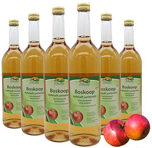 Bleichhof Apfelsaft Boskoop -- 100% Direktsaft, sortenrein, OHNE Zuckerzusatz, vegan, 6er Pack (6 x 0,72l)