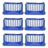 YanBan Juego de 6 filtros de repuesto para aspiradora iRobot Roomba 600 605 610 620 630 650 660, piezas de repuesto y filtros de cepillos
