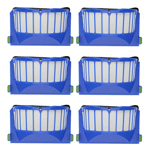 YanBan 6 unids filtro de aspiradora reemplazar filtro para iRobot Roomba 600 605 610 620 630 650 660 series piezas de repuesto cepillos filtro reemplazo conjunto