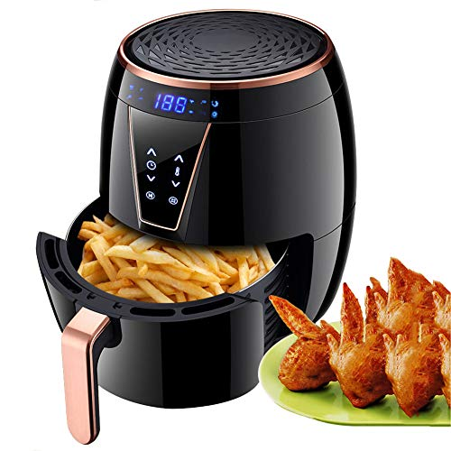 Buy 4.5L Air Fryer Cooker, 1800W Hot Air Fryers Oven Healthy Fryer with Digital Touchscreen, Timer a...