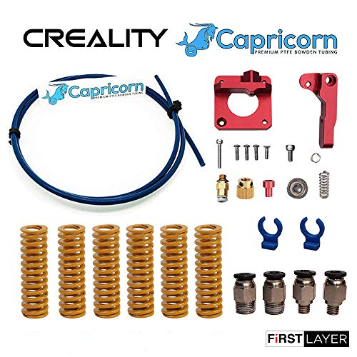 Authentic Creality Upgrade Kit for All Creality Printers with Capricorn PTFE Teflon Tubing, Aluminum Extruder, Premium Stiff All Metal Bed Springs, PC4-M6 and PC4-M10 Pneumatic Fittings W