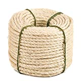 Yangbaga Natural Sisal Seil, Sisalseil für Kratzbaum, Mehrzweckseil Sisal, DIY und Austauchbar,...