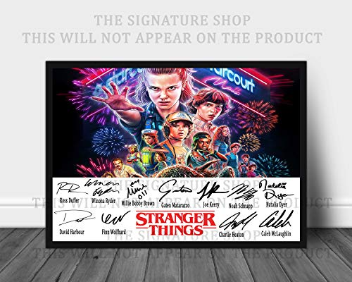 The Signature Shop Impresión firmada Stranger Things Season 3 de 12 x 8 (A4)