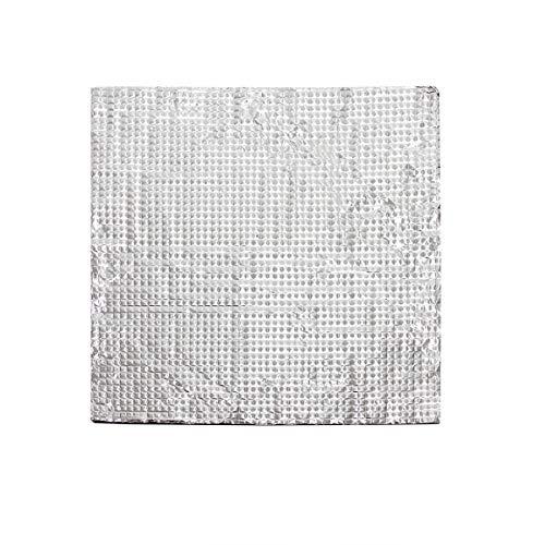 Wisamic - Letto termico isolante in cotone con superficie in alluminio, per stampanti 3D Prusa, Monoprice Maker Select V2, Monoprice Maker Select Plus, 200 x 200 x 10 mm