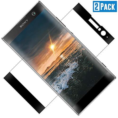 TOCYORIC Panzerglas Displayschutzfolie für Sony Xperia XA2, Vollständige Abdeckung, Ultra Dünn HD Transparenz Anti-Öl, Anti-Kratzer, Blasenfrei, 9H Gehärtetes Glas für Sony Xperia XA2, 2 Stück