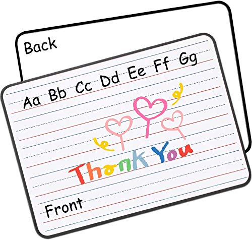 Dry Erase White Board for Kids - Mini Ruled Double Sided Whiteboard Portable Small Personal...