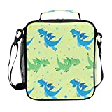 Product Image of the Dinosaur Lunch Box Kids Insulated Lunch Bag Cute Large Freezable Lunch Boxes...