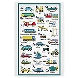 artboxONE Poster 30x20 cm Für Kinder ABC Lernposter Autos