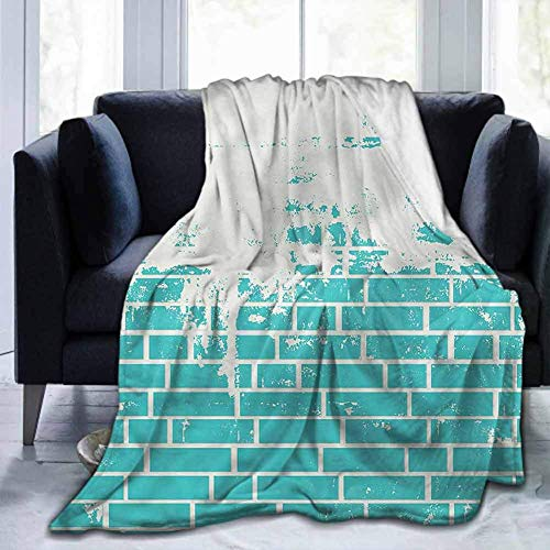 Leisure-Time Schlafzimmer warme Decke Türkis, verputzte Backsteinmauer, 50 'x 60' leichtes Wohnzimmer