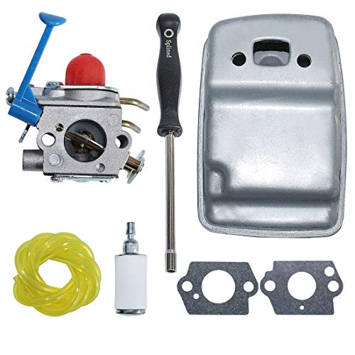 Purchase AUMEL 545081848 Carburetor Exhaust Muffler Kit for Husqvarna 128C 128L 128LDX w/Carb Adjust...