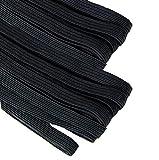 Goma elástica para costura de 4 mm. negra, banda...