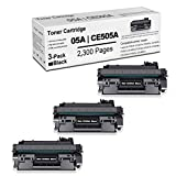3 Pack05A Compatible 05A   CE505A TonerCartridgeReplacement for HP Laserjet P2035n (CE462A) P2055 (CE456A) P2055d (CE457A) P2055dn (CE459A) P2055x (CE460A) PrinterInkCartridge(Black).