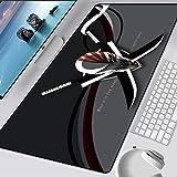 LJUKO Alfombrilla Grande Gaming 800X300X3mm Gris Cuchillo Casco Anime Alfombrilla De Ratón Gaming Grandes Tapete Escritorio Mouse Pad Xxl Impermeable Con Base De Goma Antideslizante Special-Textured S