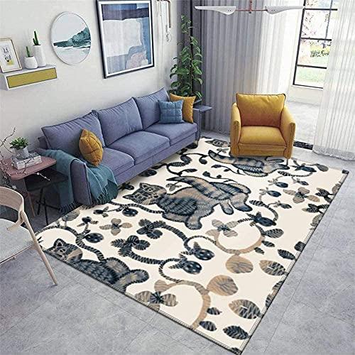 Alfombra de entrada, Patrón sin fisuras de almohadillas de alfombra de la alfombra de la alfombra de la alfombra del corredor en el estilo folclórico Ilustración Flowered Mats antideslizantes de la al