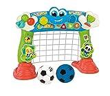 Clementoni- Tira e Segna Tanti Goal-Made in Italy-Porta Calcio Bambini 18 Mesi-Gioco elettronico parlante, 17423