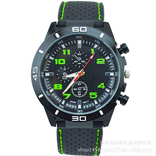 SWJM Men's Silicone Watch Student Cool Sports Racer Watch