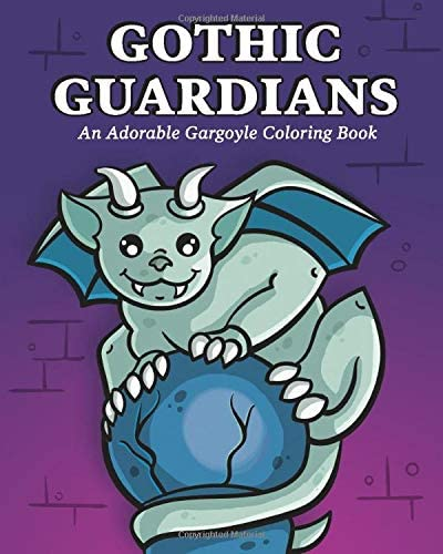 Gothic Guardians An Adorable Gargoyle Coloring Book product image