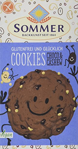 SOMMER Glutenfrei & Glücklich Cookies Choco & Cashew, 125 g