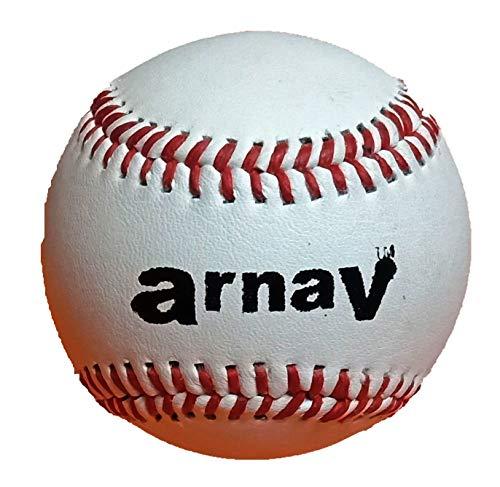Arnav Baseball Ball Leather Official Size (9 Inch) Hand Made (1)