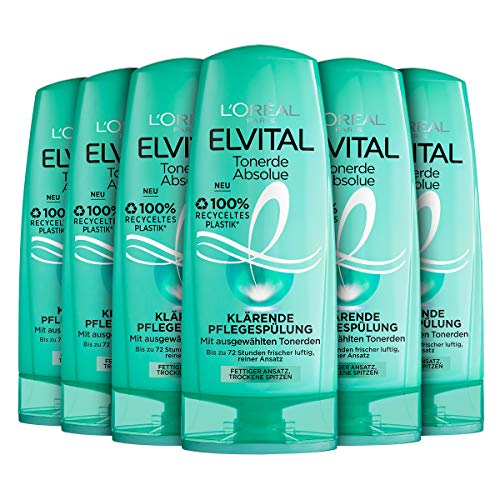 L'Oréal Paris Elvital Pflegespülung Tonerde Absolue, 6er Pack (6 x 250 ml)