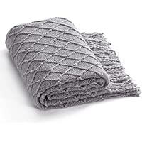 Bedsure Knit 50 x 60 Inches Lightweight Decorative Throw Woven Blanket