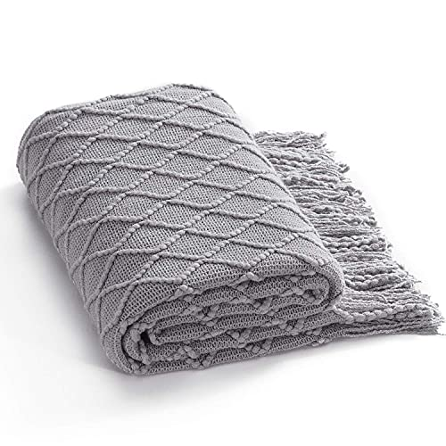 Bedsure Knit Throw Blanket for Couch 50 x 60 inches - Woven Summer Blankets, Cozy Lightweight...