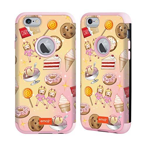 Head Case Designs Ufficiale Emoji Dolcetti Pattern Cover Guardian Fucsia Chiaro Compatibile con Apple iPhone 6 / iPhone 6s