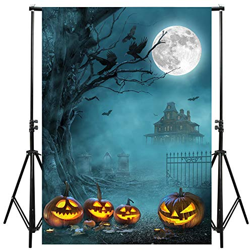 Halloween Backdrop and Studio Props 5x7 ft for Theme Party Photography Decoration, Photo Studio, Tablecloth, Wallpaper, Curtain, Resistant Fleece-Like Cloth Fabric.