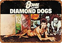 Shimaier 20×30cm 金属ブリキ看板ホーム装飾壁アート 1974 David Bowie Diamond Dogs