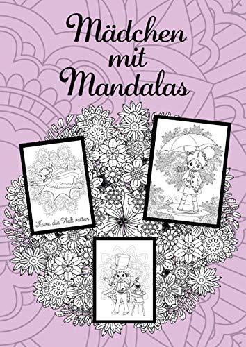 Mädchen mit Mandalas: Mandala-Malbuch & Beschäftigungsbuch für Mädchen im Grundschulalter. Für Ferien und Quarantäne. Heller Hintergrund. A4.