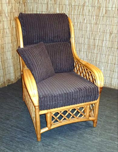 Zippy UK New Replacement Cushion Covers for Cane Wicker and Rattan Conservatory and Garden Furniture - Brown Jumbo Cord