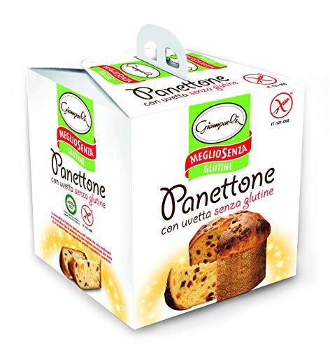 Giampaoli Panettone senza Glutine con Uvetta - 3 Confezioni da 400 g