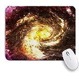 PATINISAマウスパッド Galaxy Theme Nebula Universe Fantasy Space ゲーミング オフィス おしゃれ 防水 耐久性が良い 滑り止めゴム底 ゲーミングなど適用 マウス 用ノートブックコンピュータマウスマット
