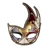 マスクハロウィーンアンチエンシェントマスクメンズマスカレードマスクヴィンテージベネチアンチェッカーミュージカルパーティーマルディグラマスク