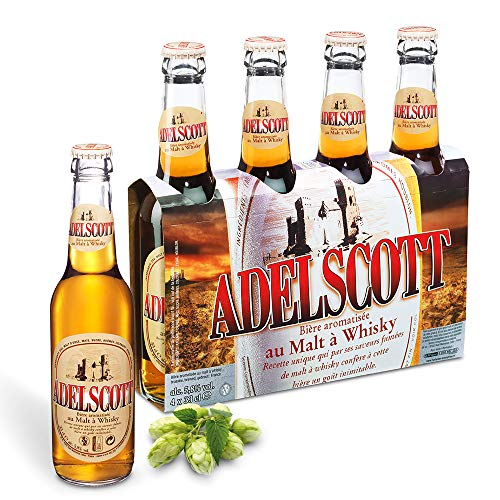 Birra Adelscott | Lager Doppio Malto Francese | Cartone 24 Bottiglie 33 Cl